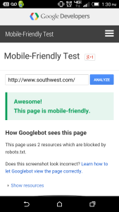 You Can Use Google's Mobile Test Tool to see if Your Site is Ready