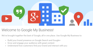 Google My Places welcome message