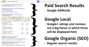 search resultrs page