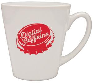 White Cafe Mug
